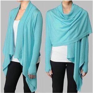 Lululemon Zen Wrap Blue Cardigan Open Sweater